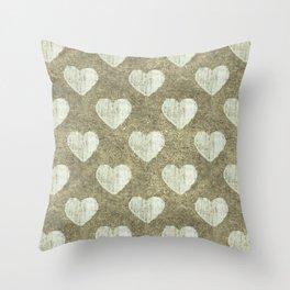 Hearts Motif Pattern Throw Pillow