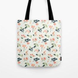 Viburnum Botanical pattern Tote Bag