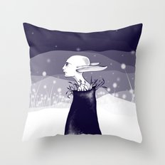 elf in the night Throw Pillow