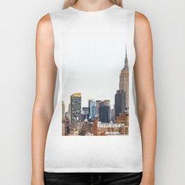 The New York Cityscape City (Color) Biker Tank