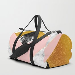 Golden foil and marble Duffle Bag