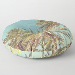 Retro Summer Palm Trees Floor Pillow