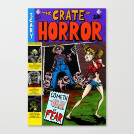 The Crate of Horror Canvas Print