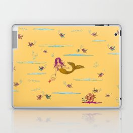 Fashionable mermaid - yellow-orange Laptop & iPad Skin