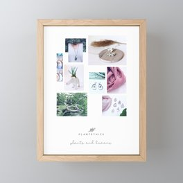 PLANTETHICS collage Framed Mini Art Print