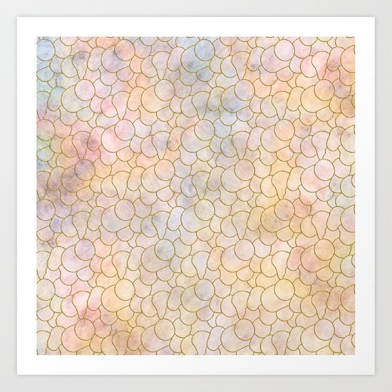 SOFT PASTELS PATTERN (abstract) Art Print