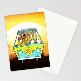 dog scooby sunset Stationery Cards