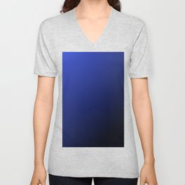 Color sample diagonally blue black, gift idea Unisex V-Neck