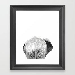 Black and white elephant animal jungle Framed Art Print