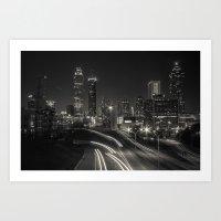 atlanta Art Prints featuring Atlanta by ken fager