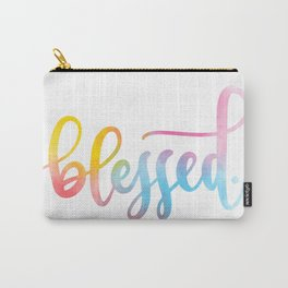 Blessed. Hand lettered. Carry-All Pouch