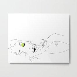 les yeux chartreux Metal Print