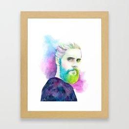 Monolith | Colourful Jared Leto Framed Art Print