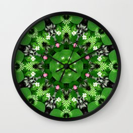 Fern and friends kaleidoscope, mandala - Maidenhair, Adiantum 899 kal 15 s6-4 Wall Clock