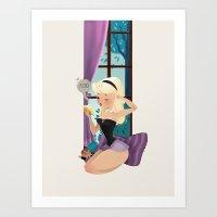 sleeping beauty Art Prints featuring Sleeping Beauty! by Pamela Barbieri
