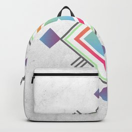 Abstract geometric indigenous symbol Backpack