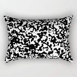 Small Spots - White and Black Rectangular Pillow