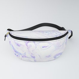 Pastel Marble Purple Blue Glitter Fanny Pack