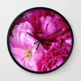 Peony Dreams Wall Clock