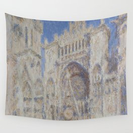 """Claude Monet """"Rouen Cathedral The Portal (Sunlight)"""" Wall Tapestry"""