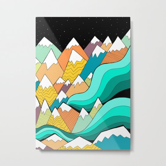 Waves of the mountains Metal Print