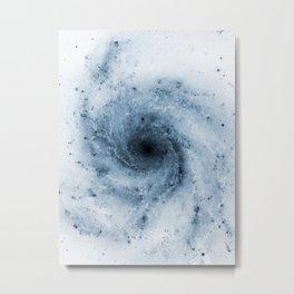 Pinwheel Galaxy Yin Blue Metal Print