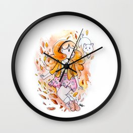 Fall for Bee Wall Clock