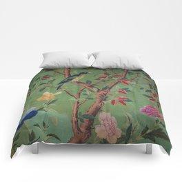 Green Dream Chinoiserie Comforters
