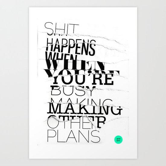 PLANS Art Print