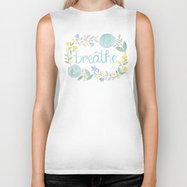 Breathe Flower Art Biker Tank
