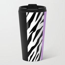 Animal Print, Zebra Stripes, Leopard Spots - Purple Travel Mug