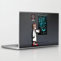 mass effect Laptop & iPad Skins featuring Mass Effect Too! by JVZ Designs