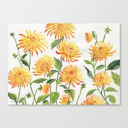 Dahlia Flowers 2 Canvas Print