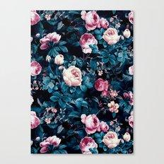 Roses Blue Canvas Print