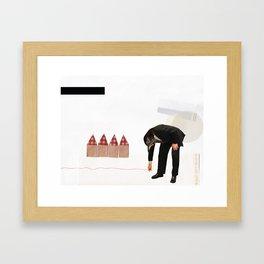 Cut Substance. Framed Art Print
