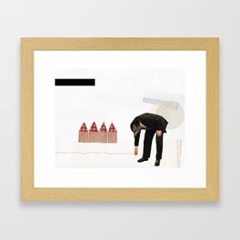 Cut Substance. Framed Art Print