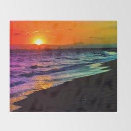 Rainbow Sunset Throw Blanket