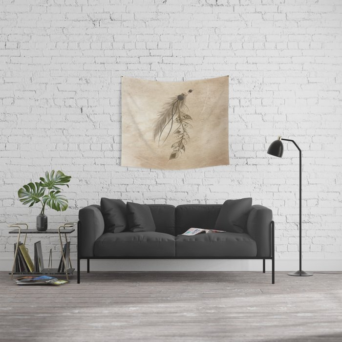 Bohemian Feather Wall Tapestry