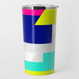 Kinetic Energy, Neon Color Blocks Travel Mug