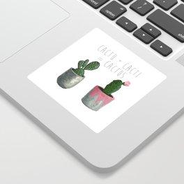 Cactu + Cacti = Cactus Sticker