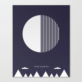 Third Quarter Moon - Moon Phases Canvas Print