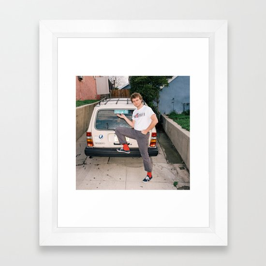 Mac Demarco Italian Meme Framed Art Print by ...