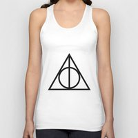 deathly hallows Tank Tops featuring Deathly Hallows symbol by Vera