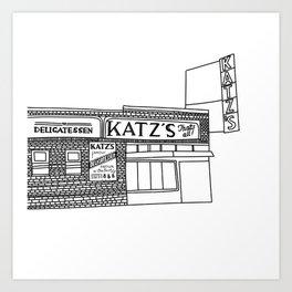 Katz's Deli NYC Art Print