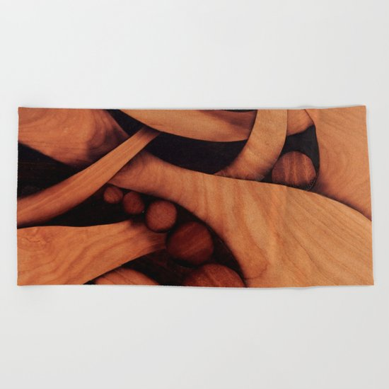 Abstract fantasy marquetry art picture Beach Towel
