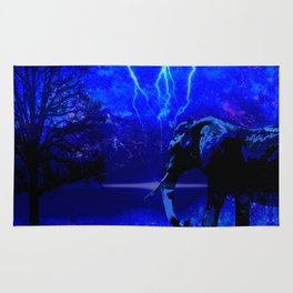 ELEPHANT LIGHTNING AND AFRICAN NIGHTS Rug