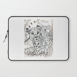 Lioness and Cub Love Laptop Sleeve