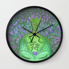 Earth Goddess Tree of Life Wall Clock