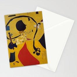 Art Dutch Interior III Joan Miro Stationery Cards