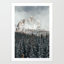 Dolomite mountains Art Print
